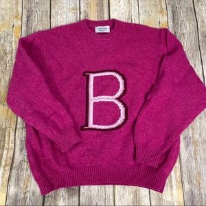 Benetton Wool Pink Crewneck Sweater, Sz 46(L,10)